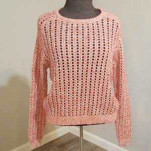 *LILLA P* Persimmon Open Stitch Scoopneck Sweater